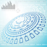 Abstract Technical Background - Illustration Stock Image