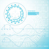 Abstract Technical Background - Illustration Stock Photo