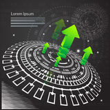 Abstract Technical Background - Illustration Stock Photography