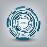 Abstract technical blue round background Stock Image