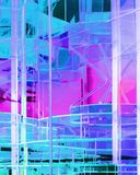 Abstract Techno. Abstract technology in blue and magenta Royalty Free Stock Images