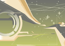 Abstract techno background stock illustration