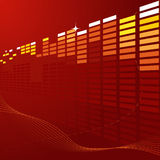 Abstract techno background royalty free illustration