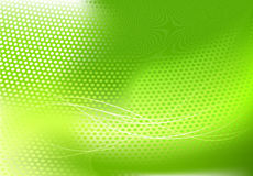 Abstract techno background. Vector illustration of green abstract techno background made of dots and curved lines. Great for backgrounds or layering over other Royalty Free Stock Image