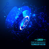 Abstract techno background for futuristic high tech design - vector Royalty Free Stock Photo