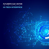 Abstract techno background for futuristic high tech design - vector. Abstract background for futuristic high tech design - vector royalty free illustration