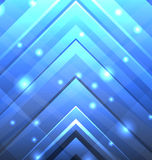 Abstract Techno Background with Transparent Arrows Stock Image