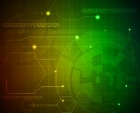 Abstract techno binary background Stock Image