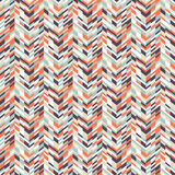 Abstract techno chevron pattern. Vector geometric seamless pattern with tech line and zigzags in funky colors. Modern bold chevron print in 1980s retro style for stock illustration