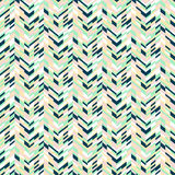Abstract techno chevron pattern. Vector geometric seamless pattern with tech line and zigzags in mint green colors. Striped modern bold print in 1980s retro Royalty Free Stock Photos