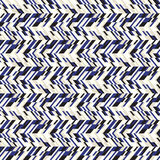 Abstract techno chevron pattern. Vector geometric seamless chevron pattern with zigzag line and crossing stripes in vintage blue color. Striped bold print in royalty free illustration