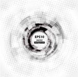 Abstract Techno Circle background. Eps 10. Stock Photos