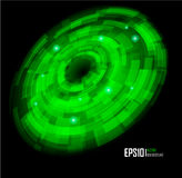 Abstract Techno Circle background. Eps 10. Royalty Free Stock Photos