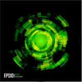 Abstract Techno Circle background. Eps 10. Stock Photography