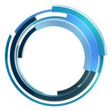 Abstract techno circular frame border isolated Stock Photography