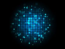 Abstract techno disco magic ball poster background Stock Photos