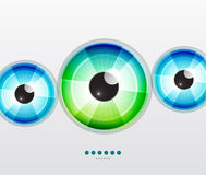 Abstract techno eye. Vector illustration Stock Photos