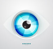 Abstract techno eye. Vector illustration Stock Photography