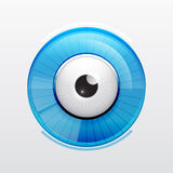 Abstract techno eye. Vector illustration Royalty Free Stock Image