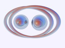 Abstract Techno Eyes. Chrome sphere like eyes Stock Photography