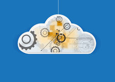 Abstract technolgy business concept with cloud and gear Royalty Free Stock Photos