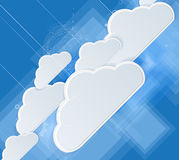 Abstract technolgy business concept with cloud Stock Photos