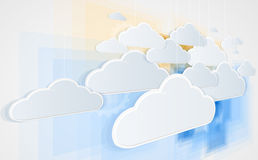 Abstract technolgy business concept with cloud Royalty Free Stock Image