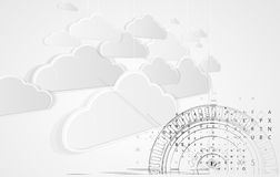 Abstract technolgy business concept with cloud Stock Images