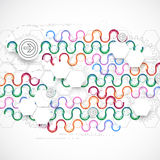 Abstract technological arc background with various technological Stock Images