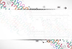 Abstract technological arc background with various technological Stock Photo