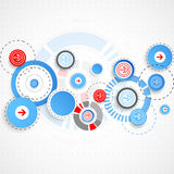 Abstract technological background with circles and arrows. Vector vector illustration