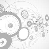 Abstract technological background with circles and arrows Stock Images