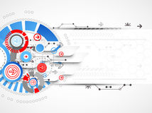 Abstract technological background with circles and arrows Stock Photos