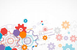 Abstract technological background with cogwheels. Stock Photo