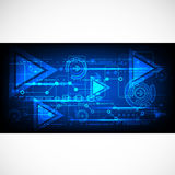 Abstract technological background. Stock Photography