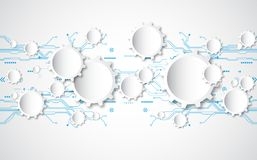 Abstract technological background concept with various technology elements. illustration Vector Stock Photography