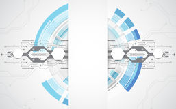 Abstract technological background concept with various technology elements. illustration Vector Royalty Free Stock Images