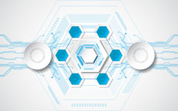 Abstract technological background concept with various technology elements. illustration Vector Royalty Free Stock Image