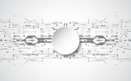Abstract technological background concept with various technology elements. illustration Vector Stock Images