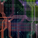 An abstract technological background consisting of a multitude o Stock Image