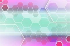 Abstract technological background consisting of a set of hexagon. S and other geometric shapes Vector Illustration