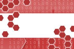 Abstract technological background consisting of a set of hexagon. S and other geometric shapes in red color Stock Illustration