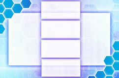 Abstract technological background consisting of a set of hexagon Royalty Free Stock Image