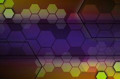 Abstract technological background consisting of a set of hexagon. S and other geometric shapes Royalty Free Illustration