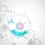 Abstract technological background Stock Image
