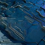 Abstract technological background made of different element printed circuit board and flares . 3d rendering. Abstract technological background made of different Royalty Free Stock Images