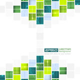 Abstract technological  background with square pattern Royalty Free Stock Photos