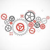Abstract technological background with various cogwheels Royalty Free Stock Images