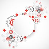 Abstract technological background with various cogwheels Royalty Free Stock Image