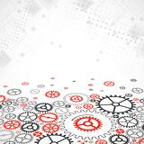 Abstract technological background with various cogwheels Royalty Free Stock Photography